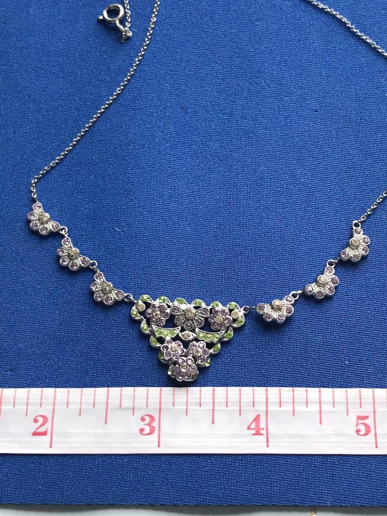 Vintage Art Deco jewellery suffragette colour necklace