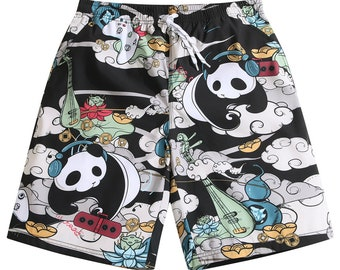 Mens Swim Trunks Victorian Garden Floral Beach Board Shorts Quick Dry Sports Running Swim Board Shorts with Pockets Mesh Lining