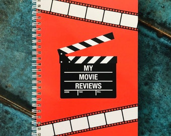 Movie Review A5 Wire-bound Notebook