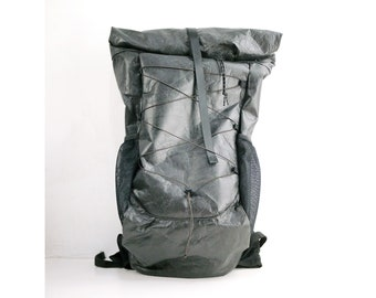 New Tyvek® 40-55L roll top 20L 30L 40L 55L outdoor hiking camping mountain BACKPACK travel waterproof  Black eco friendly Ultralight UL