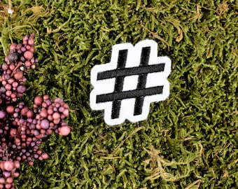 Hashtag No Filter Patch 4x1.5 inch by Ivamis Trading P5262 Free Shipping