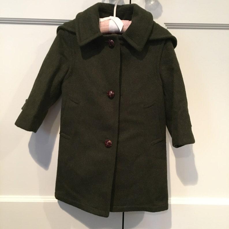 RARE Little Girls Austrian Loden Coat Size 4 98cm \u2022 MINT CONDITION \u2022