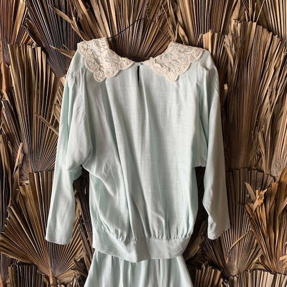 Vintage 80s Cottagecore Skirt Set size Medium - image 6