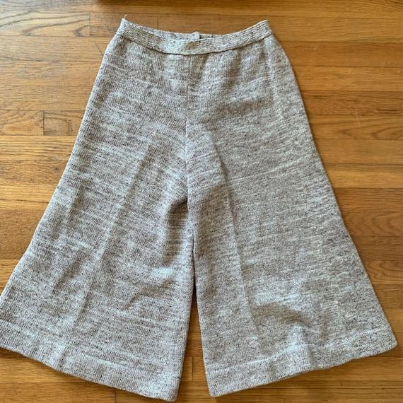 Vintage 70s Sweater Set Gaucho Pants Knit Size Sm… - image 4