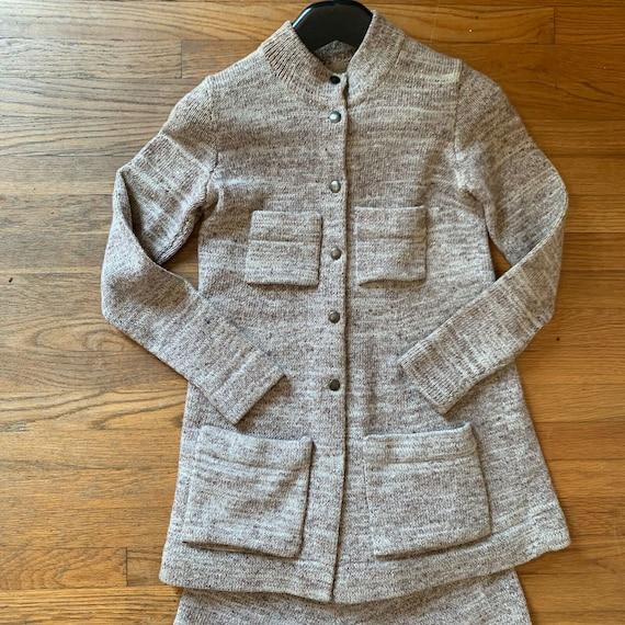 Vintage 70s Sweater Set Gaucho Pants Knit Size Sm… - image 3
