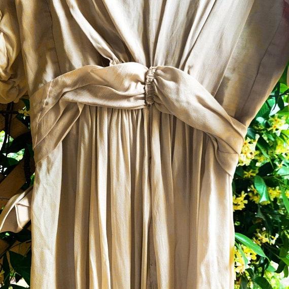 Antique Dress Edwardian Silk Evening Gown Embroid… - image 8