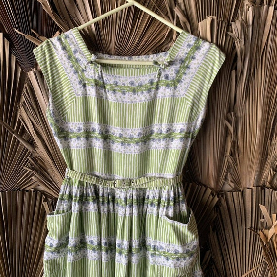 Vintage 1930s House Dress Size Medium 30s Day Dres