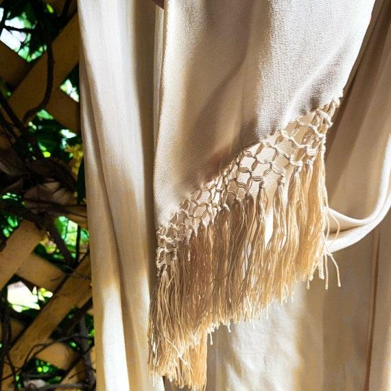 Antique Dress Edwardian Silk Evening Gown Embroid… - image 6