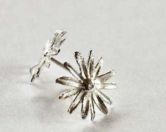 Studs, Siber 925, blossom, 1.5 cm diameter