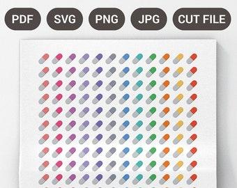 Printable Pill Stickers, Medical Stickers, Nurse Stickers, Printable Editable Planner Stickers, Reminder Stickers, EC Planner Stickers