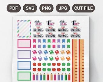 Printable School Planner Stickers, Planner Stickers School, Functional School Planner Stickers, Mini School Planner Stickers, EC Stickers