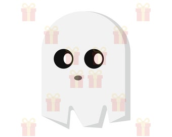 Cute Ghost SVG, Ghost SVG, Ghost PNG, Ghost Clipart, Spooky svg, Boo svg, Halloween Ghost svg