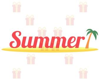 Summer SVG, Hello Summer SVG, Summer Sign SVG, Summer svg Designs, Summer Beach svg, Tropical svg, Summer Clipart, Summer Text svg