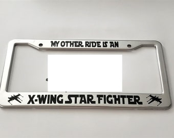 Stormtrooper Star Wars Glossy Black License Plate Frame Caps