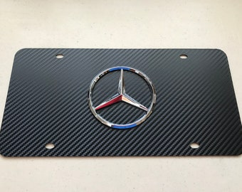 """/""""Mercedes-Benz/"""" Stainless Mirror Front License Plate /& Frame Combo Rust Free"""