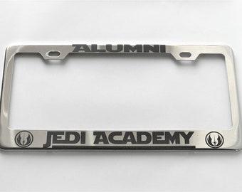 Alumni Jedi Academy license plate frame holder harry