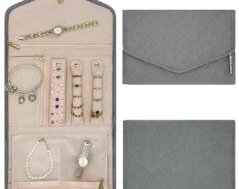 Travel Jewelry RollSilk Jewelry Roll Gift for HerUnique Bridesmaid GiftOrganizer Jewelry Roll Storage Jewelry RollJewelry Store Pouch