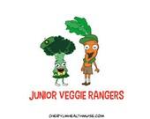 Jr. Veggie Rangers magnet