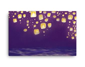 Tangled Lights Art Etsy