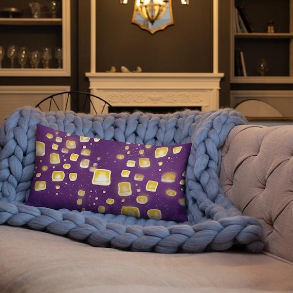 Tangled Rapunzel Purple throw pillow
