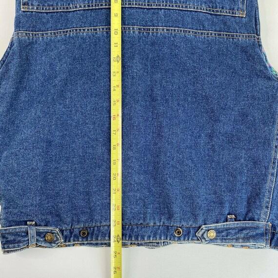 Vintage Denim Plaid Vest Flannel Lined Jean Vest … - image 6