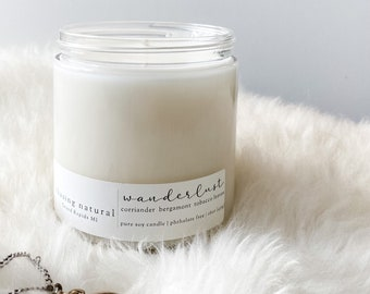 Wanderlust Soy Candle   Earthy Candle   Hand Poured Soy Candle   Natural Candle