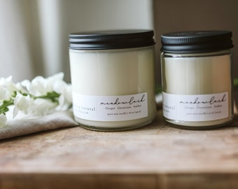Meadowlark Soy Candle   Eco Friendly   Vegan Candle   Hand Poured Candle   Gift  
