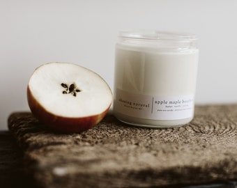 Apple Maple Bourbon   Hand-Poured Soy Candle   Natural Soy Candles   Gift Ideas