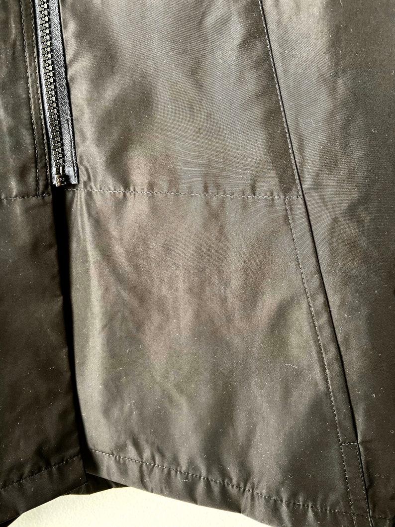 dolman sleeves Woman/'s black poly water resistant  jacket Vitamin jacket with black zipper yoga jacket black swing coat travel  jacket