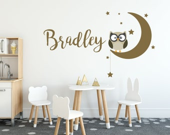 FA160 Owl Wall Stickers Bird Wall Art Removable and Repositionable Owl Nursery Decor Owl Wall Decals Girls Nursery Wall Transfers