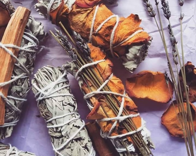 Featured listing image: Sage+Rose Stick | Cleansing from Negative Energy