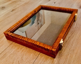 """Curly Maple Artifact Display Case 12""""x16""""x2"""""""