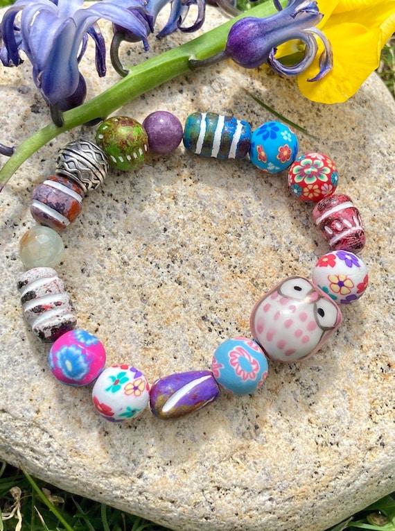 Owl Bracelet. Women's Bracelet. Bohochic. Women's jewelry. Men's jewelry. Boho. Spiritual Jewelry