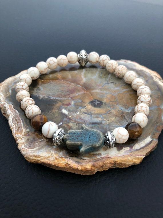 Protection Bracelet. Hamsa Hand Bracelet. Evil Eye. Women's Bracelet. Spiritual. Women's jewelry. Boho. Bohemian Jewelry