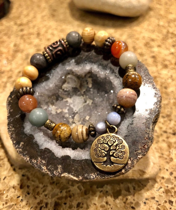 Tree of Life Bracelet. Women's Bracelet.Yoga.Meditation. Zen. Boho Jewelry. Hippie Bohochic