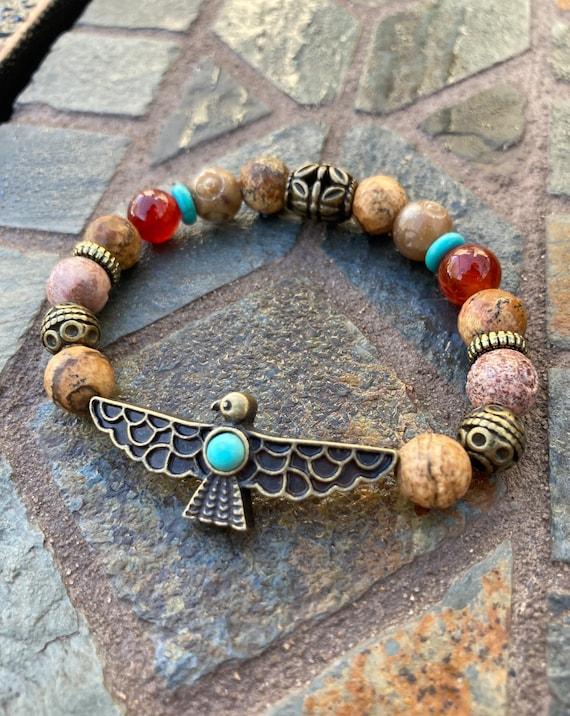 Thunderbird Bracelet. Women's Bracelet. Men's bracelet. Spiritual. Boho chic. American Indian. Meditation
