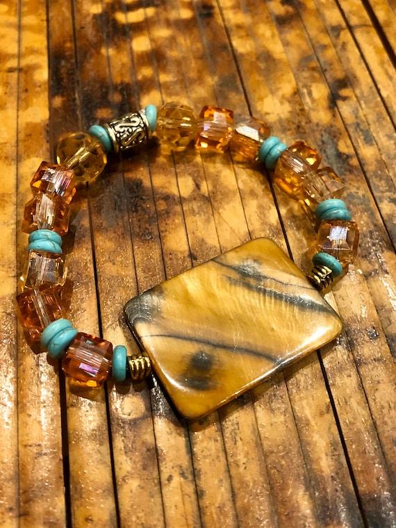 Amber Bracelet. Women's Bracelet. Spiritual. Women's jewelry. Boho. Bohemian Jewelry