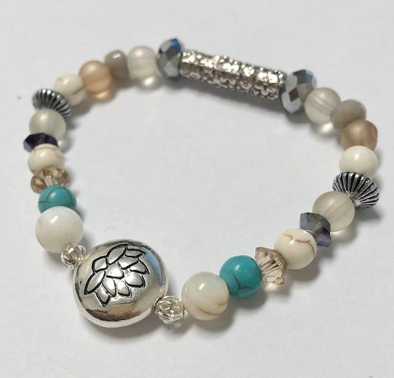 Lotus Flower Bracelet. Womens Bracelet/Gift For Her.