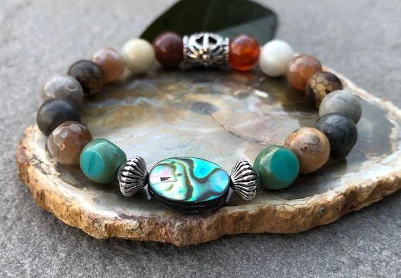 Abalone Shell Bracelet. Women's Bracelet. Gift For Her. Bohochic Bracelet. Bohemian