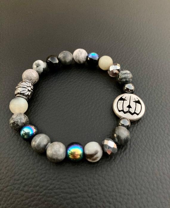 Pumpkin Bracelet. Womens Bracelet. Men's Bracelet. Gift for her. Gift for him. Halloween Stretch Bracelet