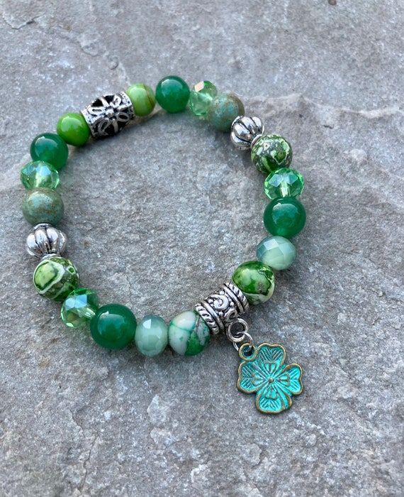 Irish Bracelet. Spiritual. Ireland. Clover. Shamrock. Women's jewelry. Boho. Bohemian Jewelry