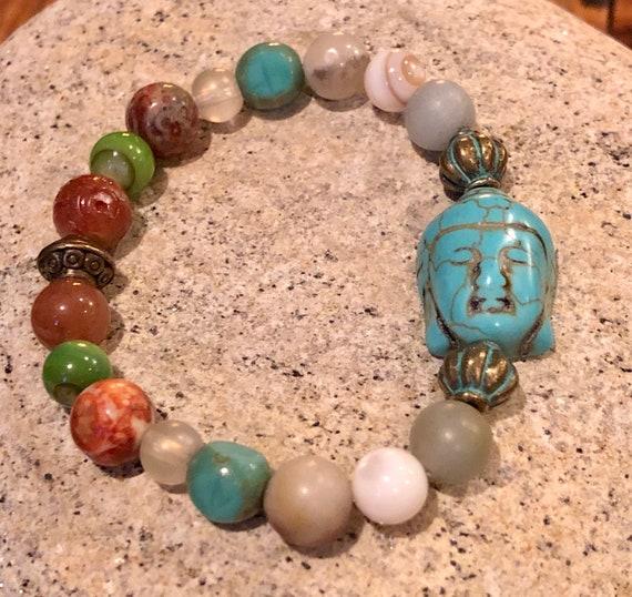 Buddha Bracelet Multicolored Women's Bracelet. Gift For Her. Yoga. Meditation.