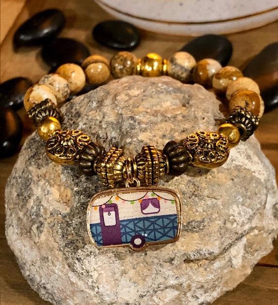 Happy Camper Bracelet. Women's Jewelry. Boho. Bohemian Jewelry