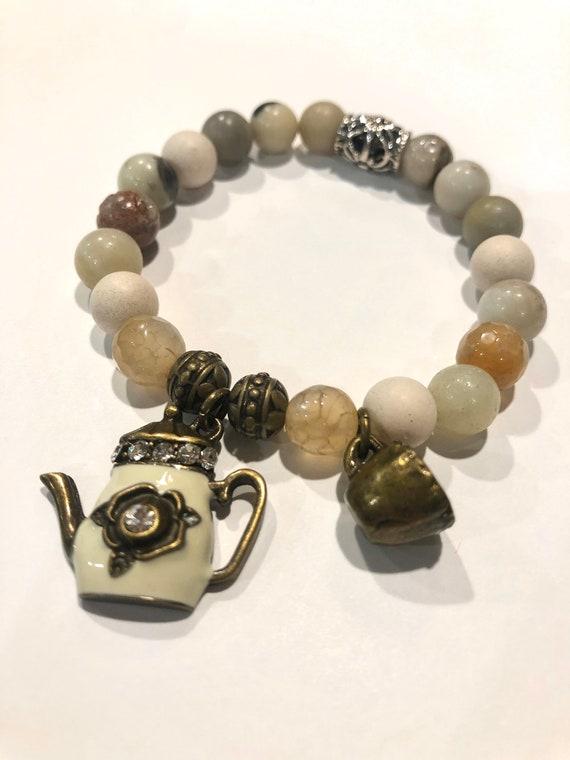 Coffee Lovers Bracelet. Womens Bracelet/Gift for her. Victorian Boho Chic. Bohemian