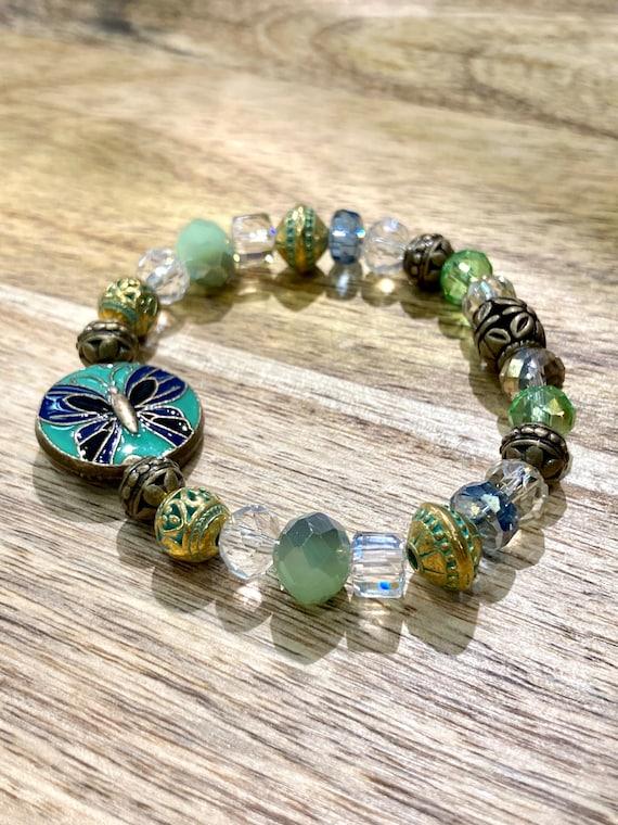Butterfly Bracelet Womens Bracelet, Men's Bracelet. Gift. Boho Chic. Spiritual. Stacked Bracelets