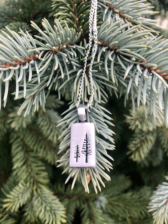 Pine Tree Necklace. Women's Jewelry. Boho Chic. Nature Hippie.