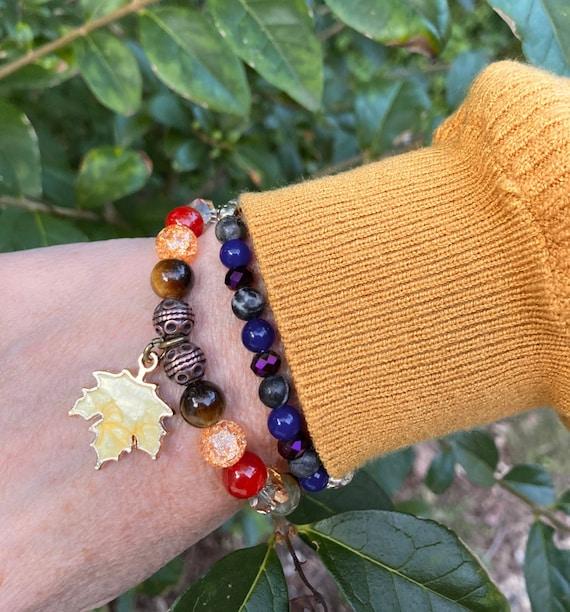 Fall Leaf Bracelet. Men's bracelet. Women's Bracelet. Spiritual. Fall jewelry. Boho. Bohemian Jewelry. Leaf