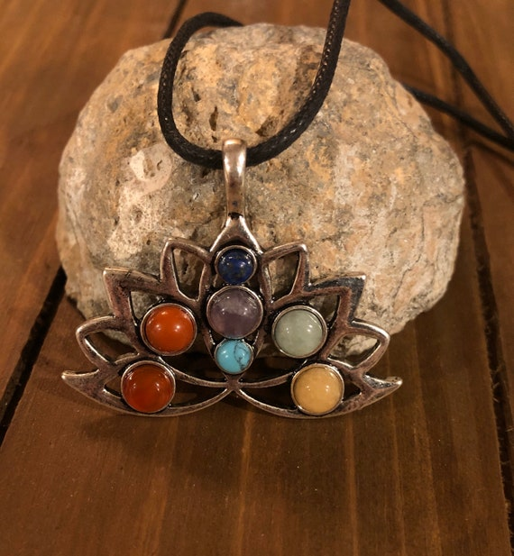 Lotus Flower Necklace. Gift For Her. Women's Jewelry. Boho Chic.