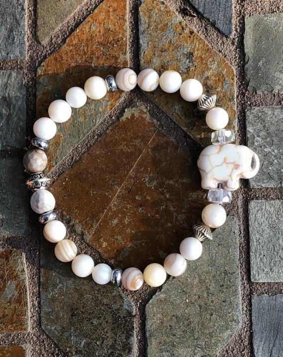 White Elephant Bracelet. Women's Bracelet. Bohochic. Women's jewelry. Boho. Spiritual Jewelry
