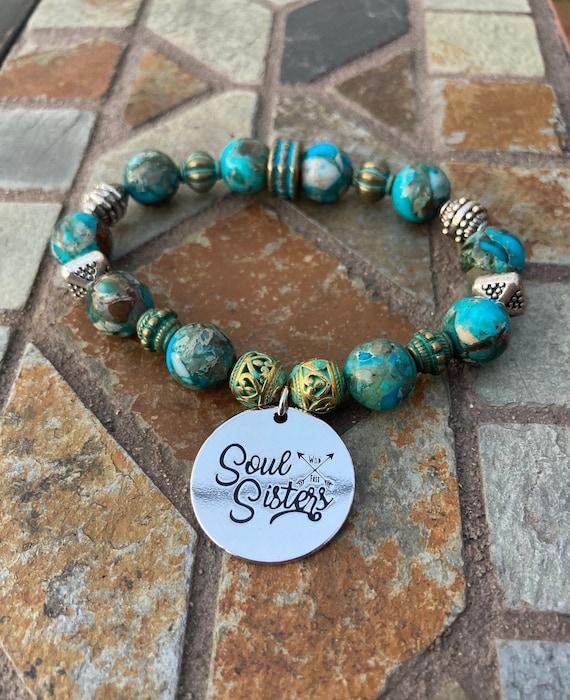 Soul Sisters Bracelet. Women's Jewelry. Friend Jewelry. Friendship Bracelet. Boho. Bohemian Jewelry